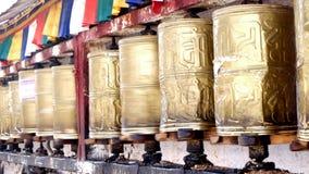 Przędzalniani modlitewni koła Zdjęcia Stock