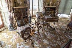 Przędzalniany koło i stół w Osborne Mieścimy wyspę Wight fotografia royalty free