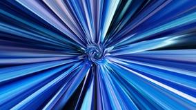 Przędzalniany tło z błękitnymi promieniami rozszerza od różyczki w środku i centrum royalty ilustracja