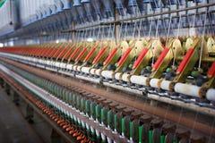 Przędzalniana maszyna dla tekstylnej fabryki Zdjęcia Stock