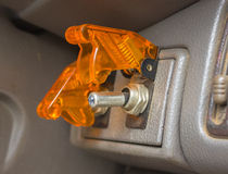 Przełącznikowy samochodowy tło Zdjęcie Royalty Free