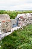 Przełaz w kamiennej ścianie zdjęcie royalty free