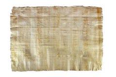 Prześcieradło naturalny Egipski papirus odizolowywający Zdjęcie Royalty Free