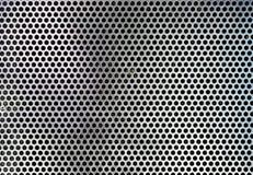 Prześcieradło zakrywający z liniami kurenda metal robić dziurę tło zdjęcie stock
