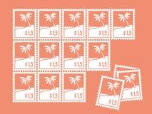 Prześcieradło znaczki Obraz Stock