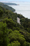 Prześwietna strona włoski seascape Zdjęcie Royalty Free