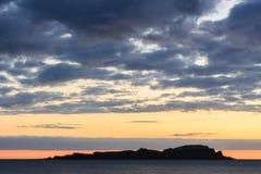 Prześwietny świt od plaży Mundaka Zdjęcia Stock