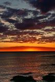 Prześwietny świt od plaży Mundaka Zdjęcie Royalty Free