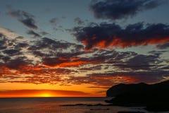 Prześwietny świt od plaży Mundaka Fotografia Royalty Free