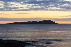 Prześwietny świt od plaży Mundaka Zdjęcie Stock