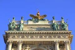 Prześwietna domowa fasada austriacka krajowa biblioteka Fotografia Stock