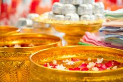 Przebaczenie ceremonia w Macierzystym ` s dniu w Tajlandia Obraz Royalty Free