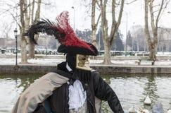 Przebrana osoba - Annecy Wenecki karnawał 2013 obrazy royalty free