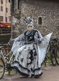 Przebrana osoba - Annecy Wenecki karnawał 2014 zdjęcia royalty free
