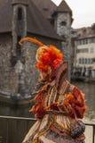 Przebrana osoba - Annecy Wenecki karnawał 2014 obraz royalty free