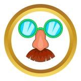 Przebranie maskowa ikona royalty ilustracja