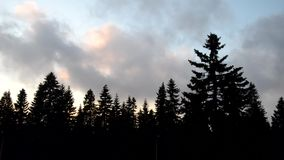 Przechodzący chmury przyśpieszać w górę zbiory