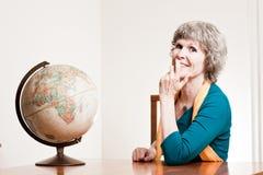 przechodzić na emeryturę damy ziemska szczęśliwa mapa Zdjęcie Royalty Free