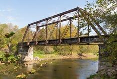 Przechodzić na emeryturę linia kolejowa most Zdjęcie Royalty Free