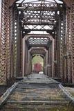 Przechodzić na emeryturę linia kolejowa most Obraz Royalty Free