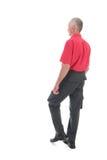 Przechodzić na emeryturę mężczyzna chodzący daleko od Fotografia Stock