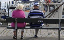 Przechodzić na emeryturę para Fotografia Royalty Free