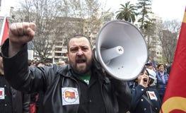 przechodzić na emeryturę protest w Alicante Fotografia Stock