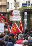 przechodzić na emeryturę protest w Alicante Zdjęcia Stock