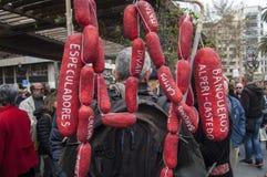 przechodzić na emeryturę protest w Alicante Zdjęcie Royalty Free