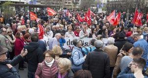przechodzić na emeryturę protest w Alicante Fotografia Royalty Free