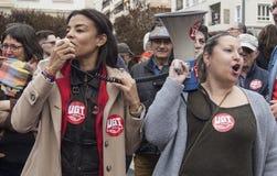 przechodzić na emeryturę protest w Alicante Obraz Stock