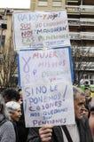 przechodzić na emeryturę protest w Alicante Obrazy Stock
