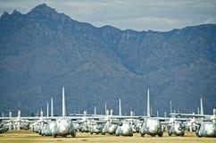 Przechodzić na emeryturę samolot w Boneyard fotografia stock