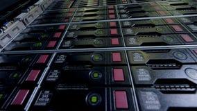 Przechowywanie danych stojak w niskiego kąta widoku zdjęcie wideo