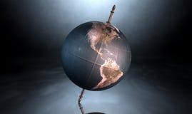 Przechylająca Światowa kula ziemska Obraz Stock