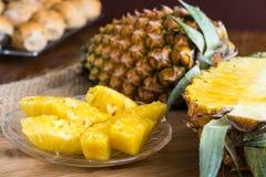 przecięcie ananasy Obraz Royalty Free