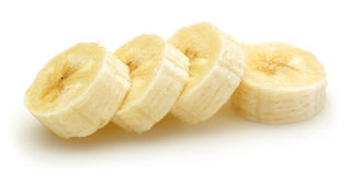 przecięcie banan Zdjęcie Stock