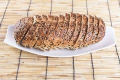 przecięcie chleb Obraz Stock