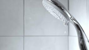Przeciekająca prysznic głowa zdjęcie wideo