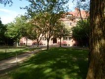 Przecina Hall, Harvard jard, uniwersytet harwarda, Cambridge, Massachusetts, usa zdjęcie stock