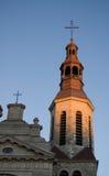 przecinająca kościół iglica Obraz Stock
