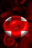 przecinająca komórki krwi czerwień Zdjęcie Royalty Free