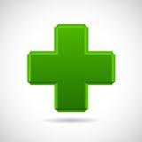 przecinająca szklana glansowana zieleń Zdjęcia Stock