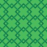 Przecinającego ściegu geometryczny wzór Obrazy Stock