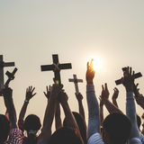 Przecinającej religii społeczności Katolicki Chrześcijański pojęcie Fotografia Royalty Free