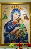 Przecinający ścieg Macierzysty Mary, matka Wieczysta pomoc Obraz Stock