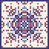 Przecinający ściegu wzór, Skandynawski ornament, pochodzenie etniczne, poduszka royalty ilustracja