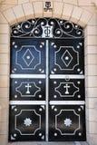 przecinający chrześcijanina drzwi Obrazy Royalty Free