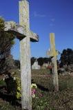Przecinający headstone obraz royalty free