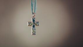 Przecinający kolia breloczek Chrześcijańska religii wiara Obraz Royalty Free